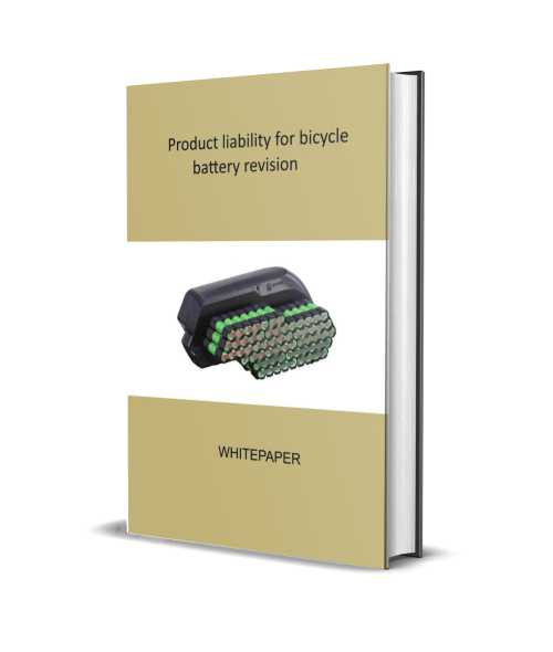 Product liability for bicycle battery revision | Engineering Spirit BV